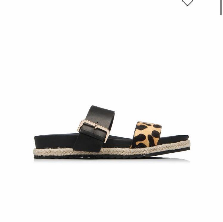 Jo Mercer women slide shoes sandals size 38 leather