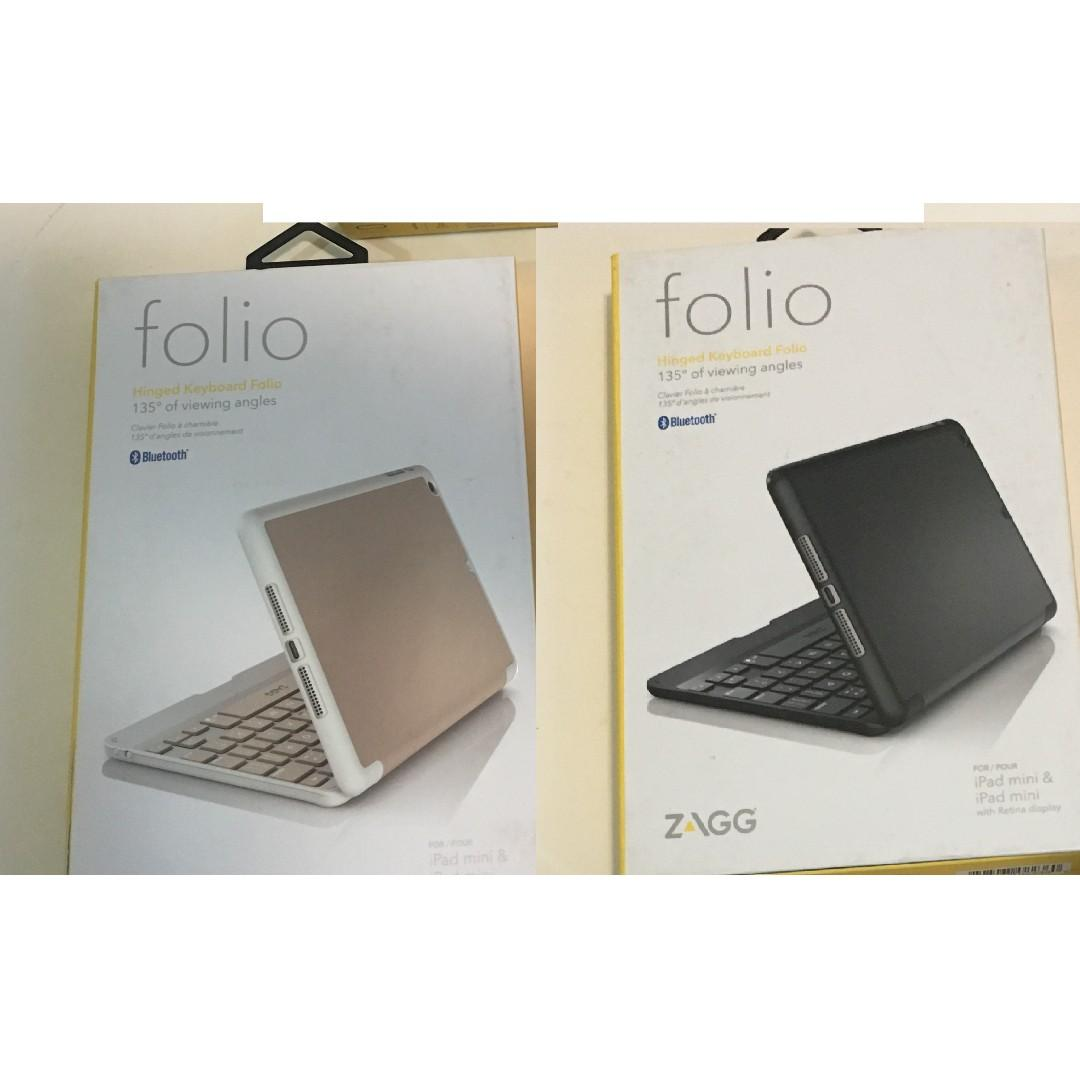 Keyboard Cases for Apple iPad Mini Rose Gold & Black)