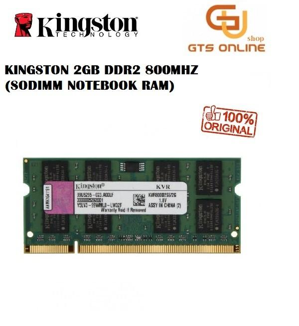 Kingston DDR 2 800Mhz 2GB Notebook sodimm (used unit)