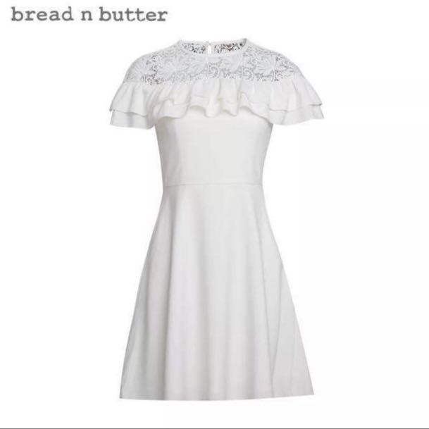 Like new Bread n Butter white ruffle lace with belt