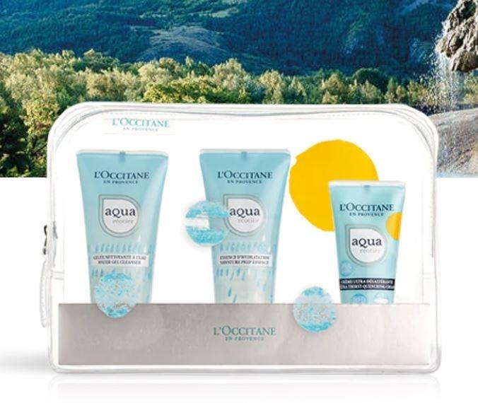 L'OCCITANE Travel Toiletetries Aqua Réotier Hydration - Cream (Pre-Order from Europe - Delivery on Jan 2020)