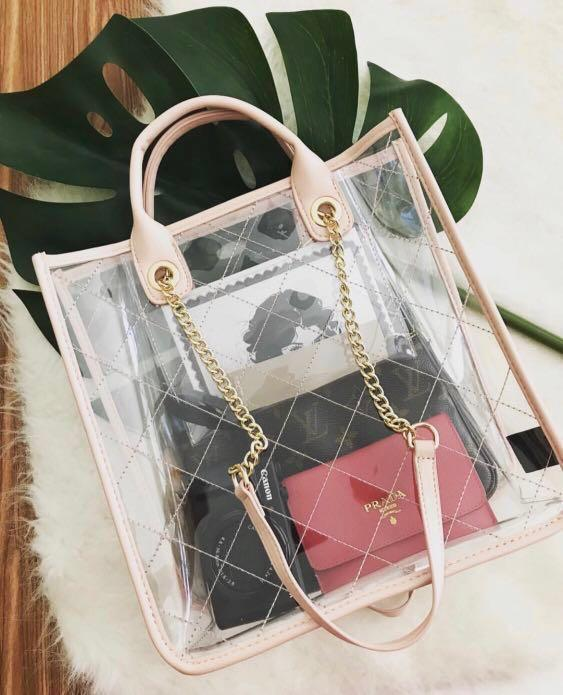 Markfranc Clear Quilted Tote! Transparent is Trending Now!