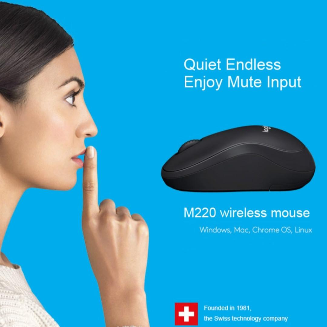 [New] Logitech M220 Silent Wireless Mouse 2.4ghz Wireless Mouse Mice