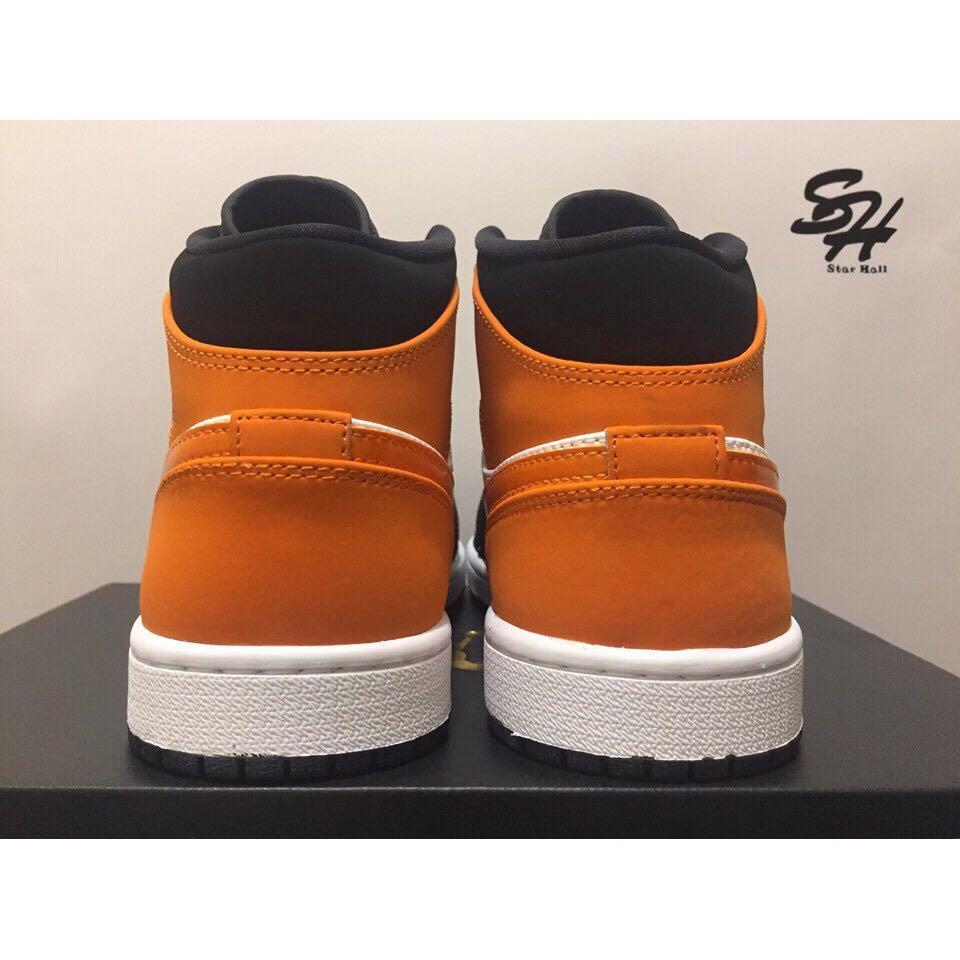 AIR JORDAN 1 MID 黑橘 扣碎籃板 554724-058