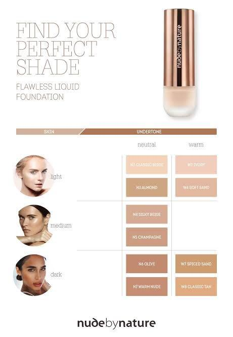 Nude By Nature Natual Flawless Almond Smooth Soft Liquid Mineral Foundation