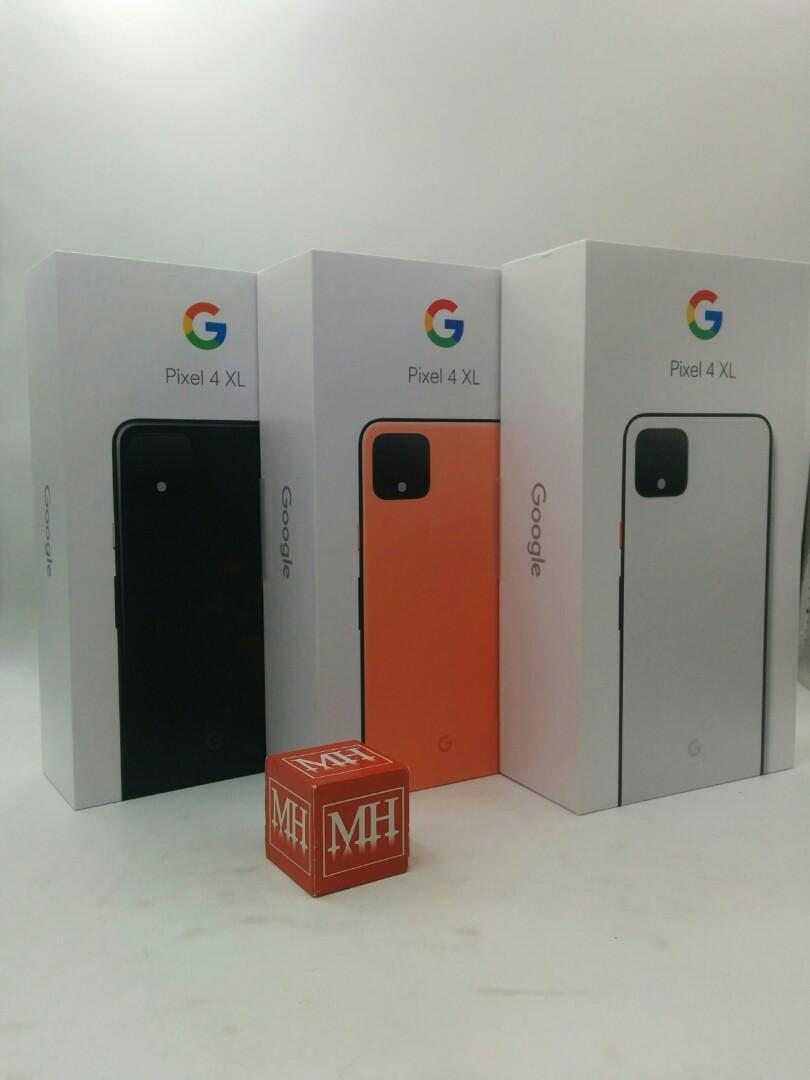 Orange white black Google pixel 4 XL sg set MHNOV