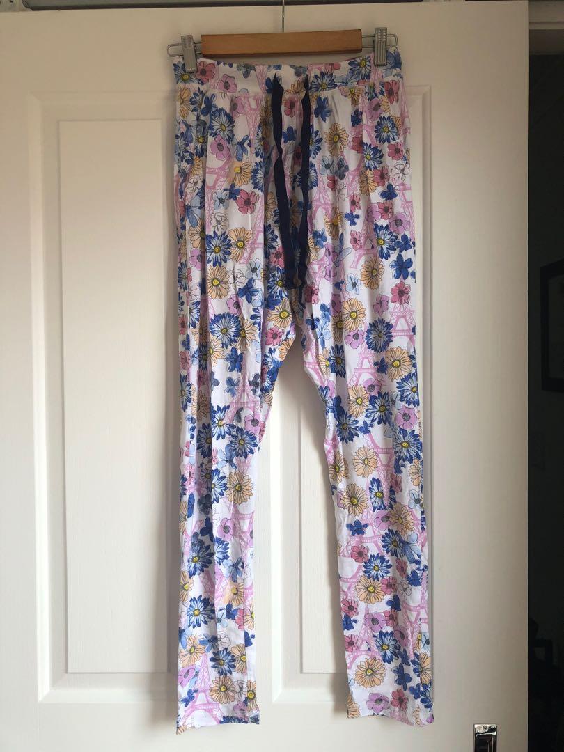 PETER ALEXANDER floral print Paris stretch pyjama pants