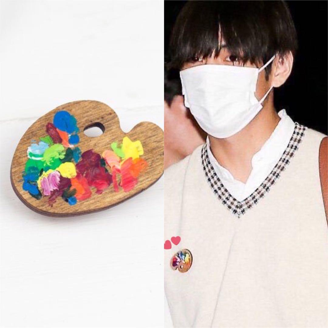 [Pre-Order] Taehyung KATE ROWLAND Original Paint Palette Brooch  Pin BTS MD MERCH
