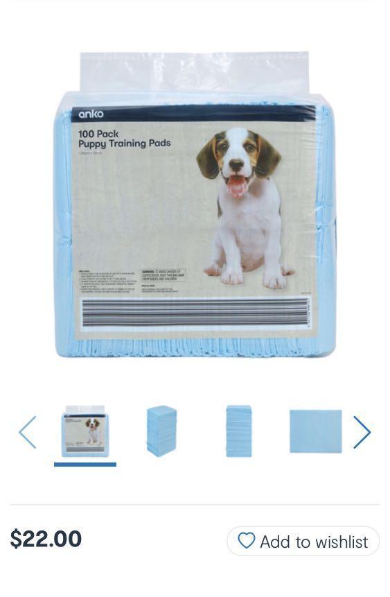 Puppy training pad & Feline greenies dental treats