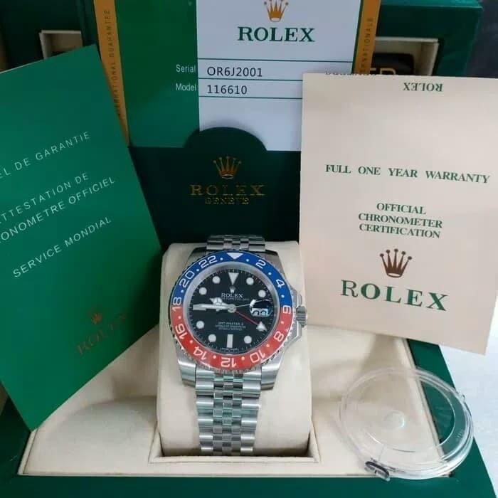 rolex gmt master II pepsi jubille 40mm premium FULLSET BOX ORI ROLEX + BUKU BUKU + PIN