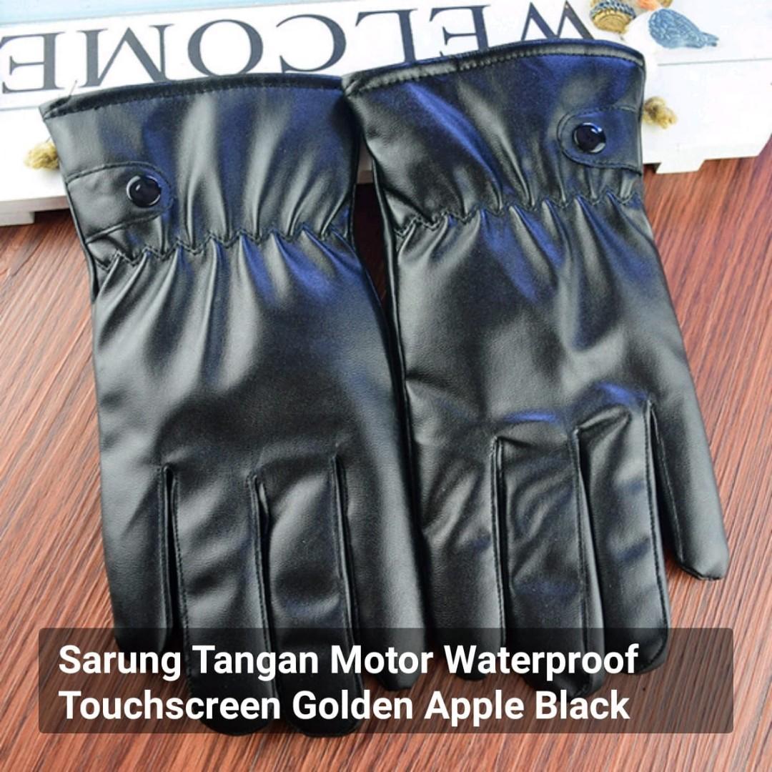 Sarung Tangan Motor Waterproof Touchscreen Golden Apple Black