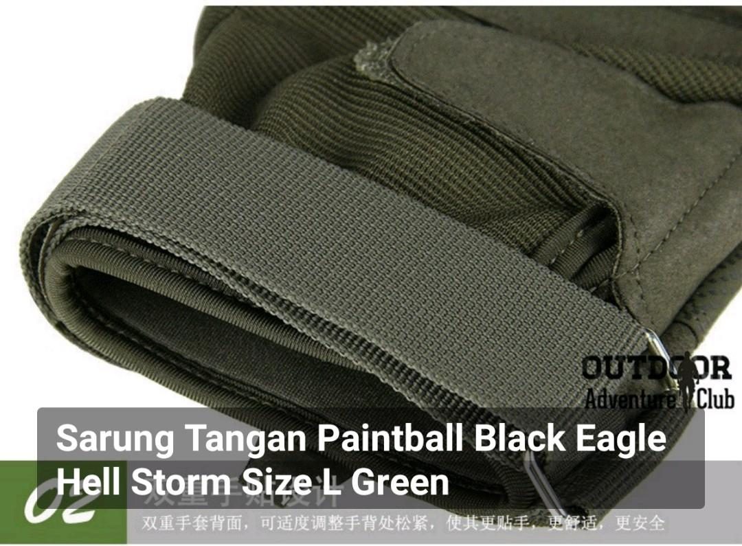 Sarung Tangan Paintball Black Eagle Hell Storm Size L Green