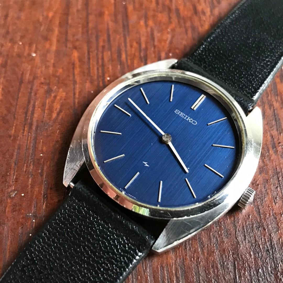 Seiko Chariot 0470 Blue Dial not omega longines