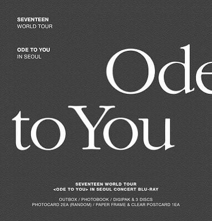 SEVENTEEN - SEVENTEEN - WORLD TOUR ODE TO YOU IN SEOUL BLURAY