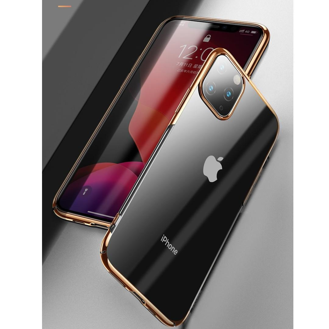 Shell Plated Clear Phone Case Casing iPhone 11 Pro Max