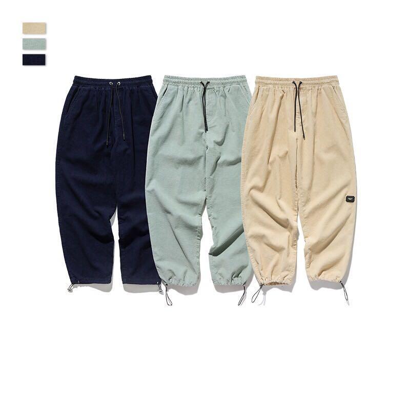 🇯🇵🇰🇷日韓系Streetwear燈芯絨束腳褲A