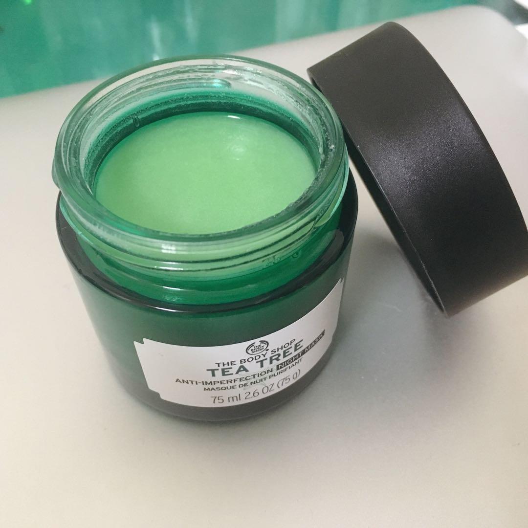 [THE BODY SHOP]美體小舖茶樹抗瑕淨膚晚安凍膜