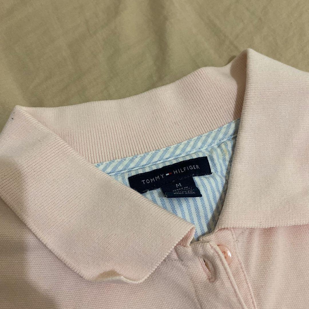 TommyHilfiger 粉色polo衫