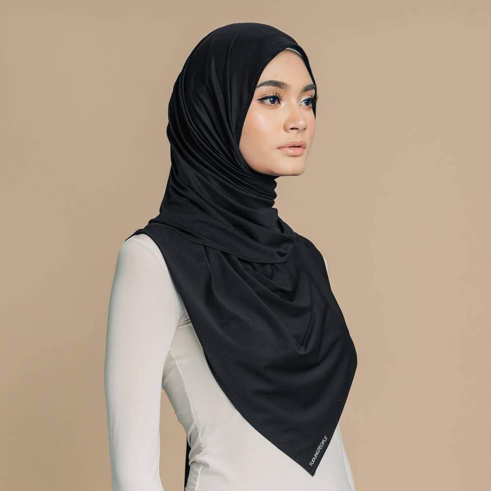 [YES Sale Tudungpeople ] Tudung people Najwa Sport Shawl - Black