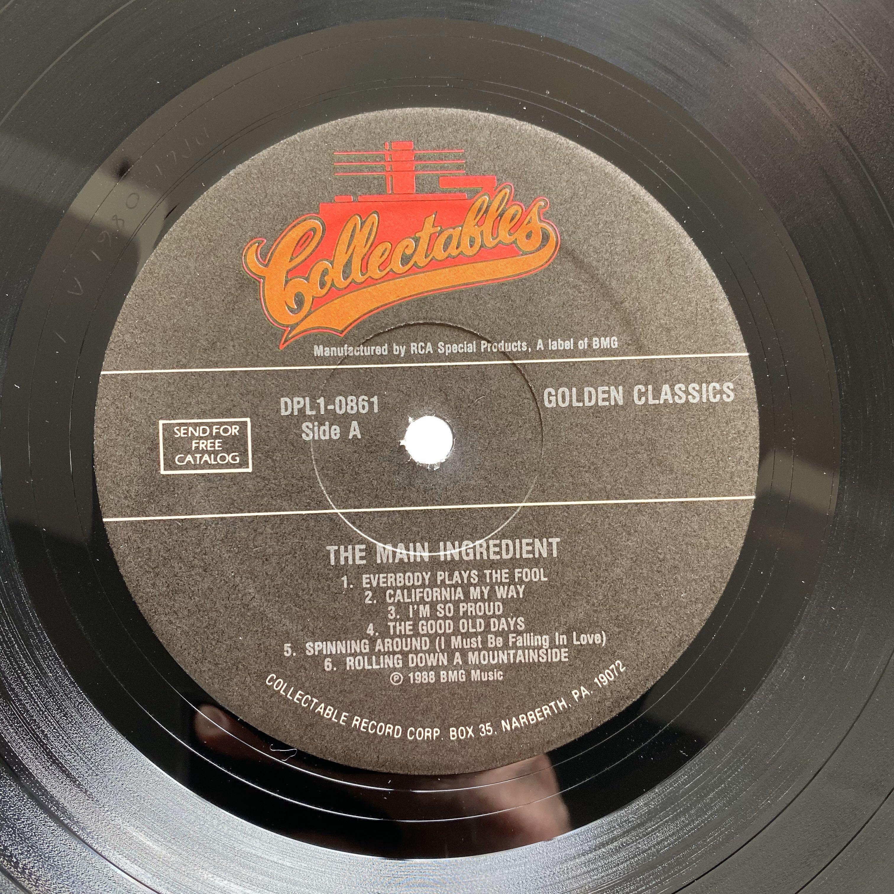 The Main Ingredient – Golden Classics (1988 US Original - Vinyl is Excellent)