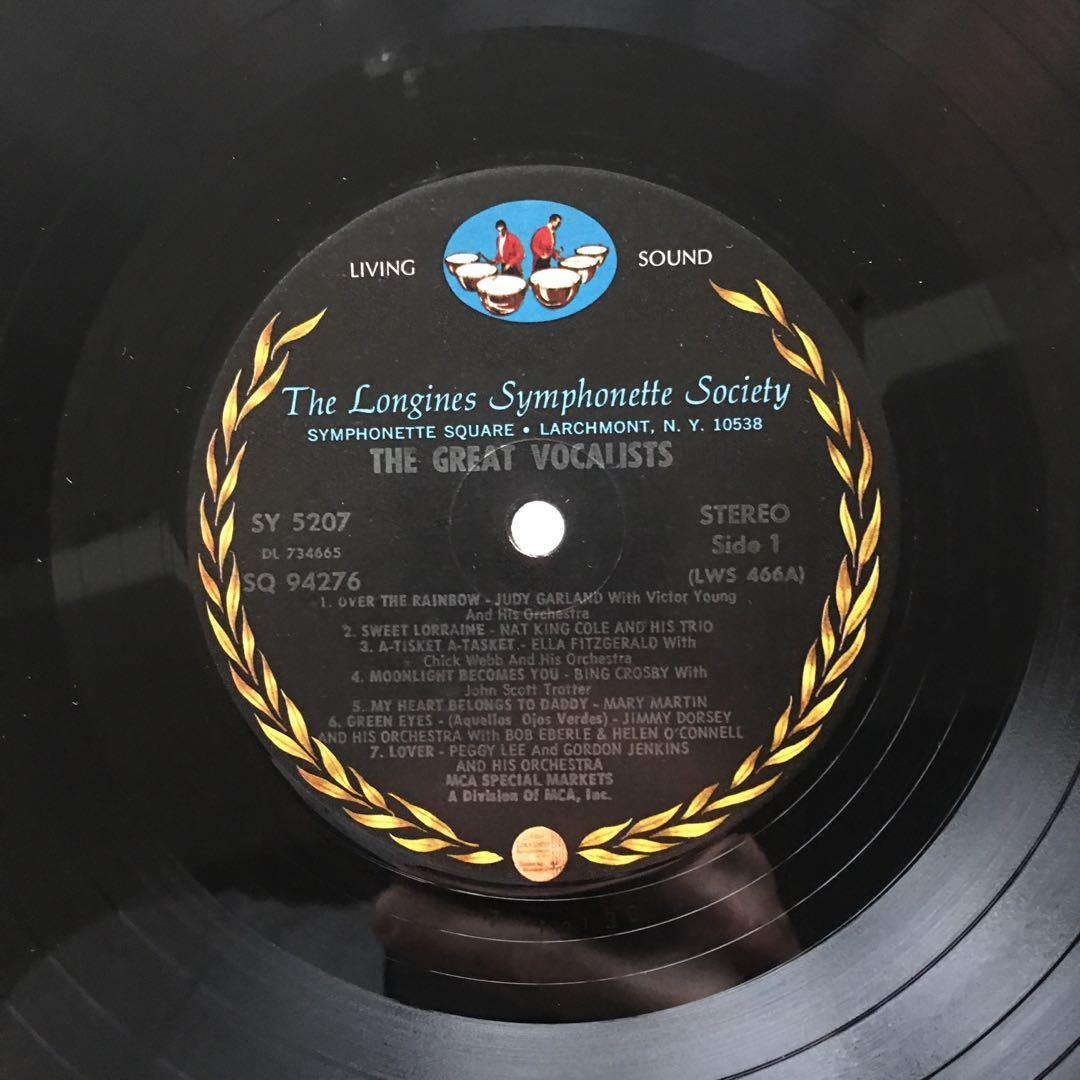 The Great Vocalists Of The Big Band Era (1960s US Pressing - Vinyl Record in Excellent Condition)