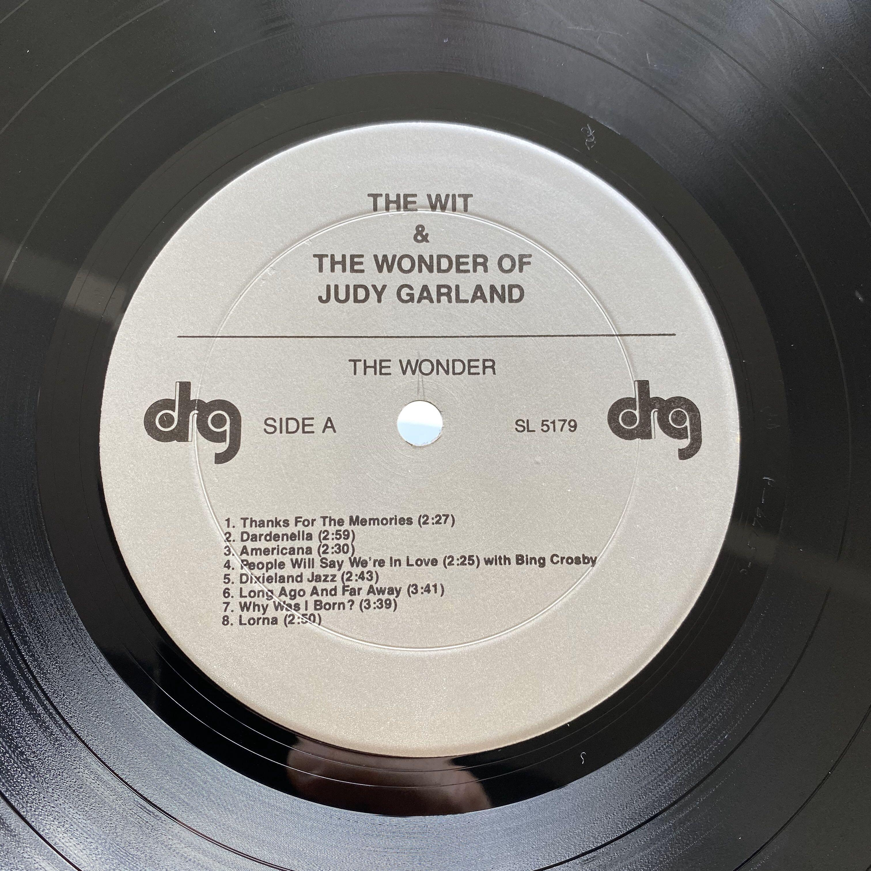 Judy Garland ‎– The Wit & Wonder Of Judy Garland (1977 US Pressing - Vinyl is Excellent)