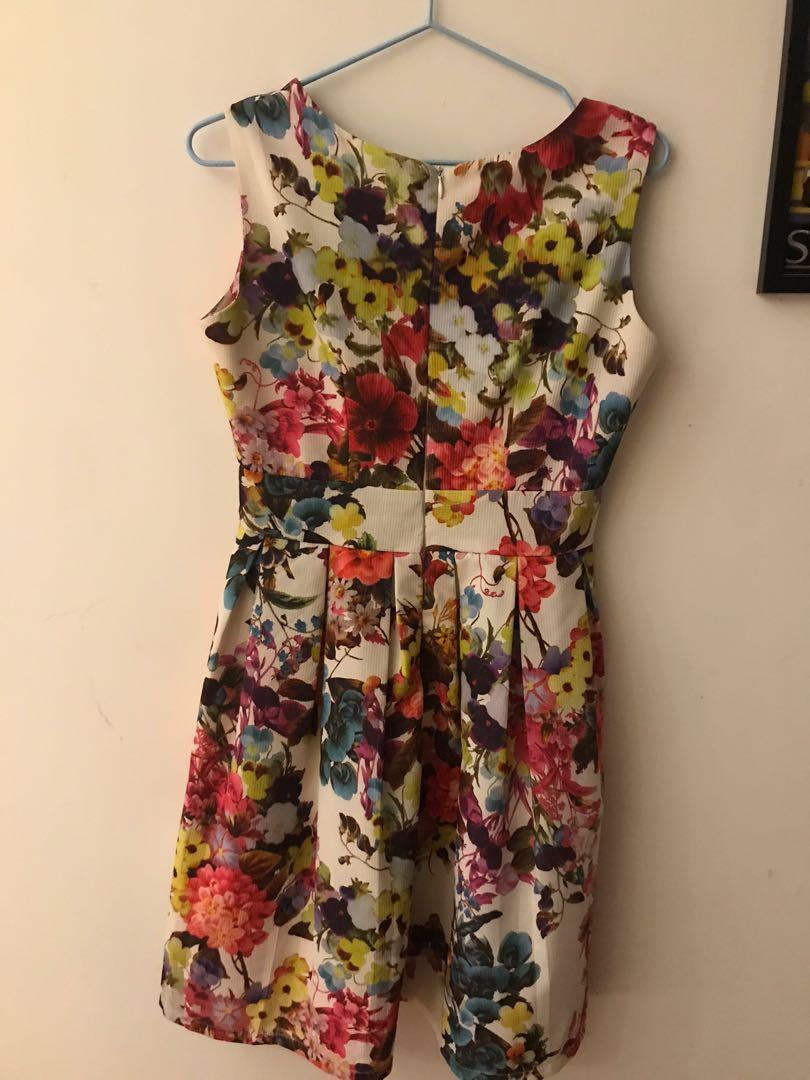 Womens floral dress Reiss club Monaco zara