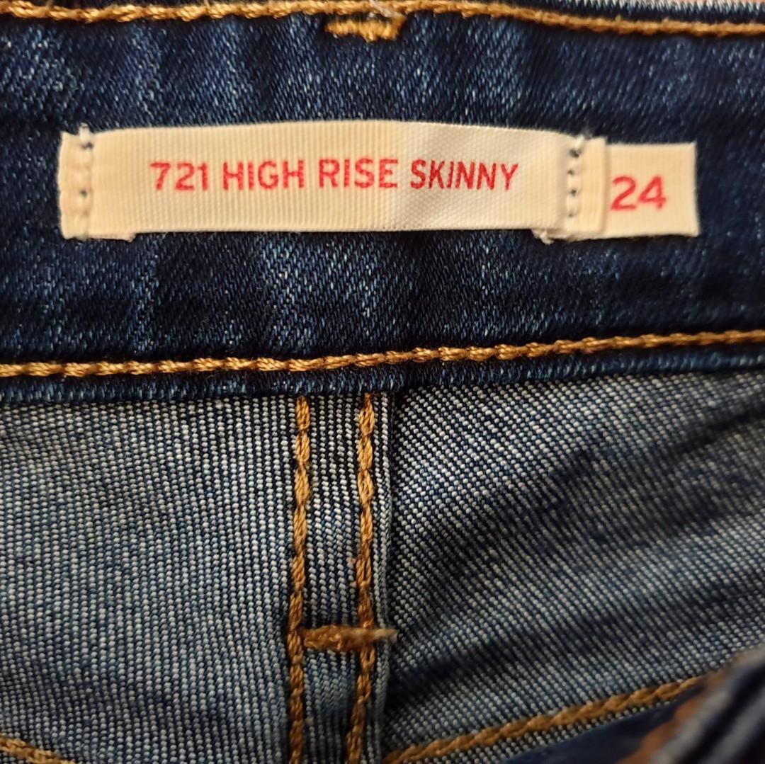Women's size 24 'LEVI'S' Gorgeous 712 high rise skinny dark denim jeans - AS NEW