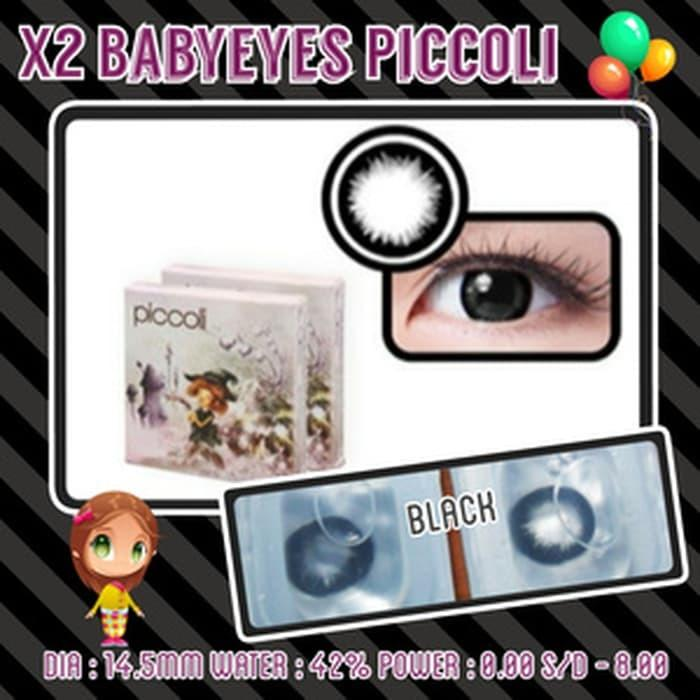 X2 Piccoli Black Softlens Baby Eyes