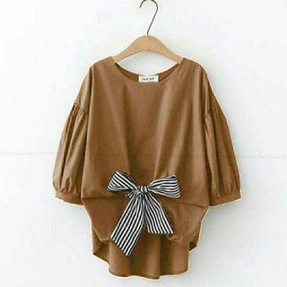 Ec PITA top Navy l atasan fashion baju blouse wanita