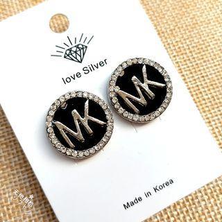 (買5送1)字母水鑽貼耳耳環#剁手時尚