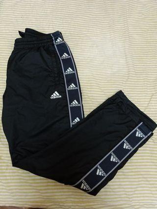 Adidas 串標保暖風褲 長褲 M