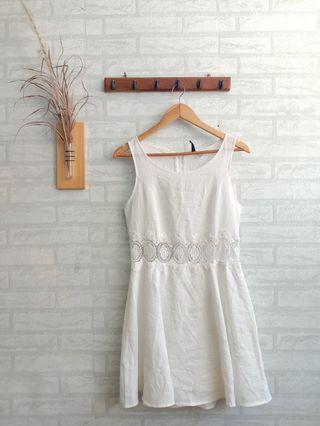 #1111special white dress hnm