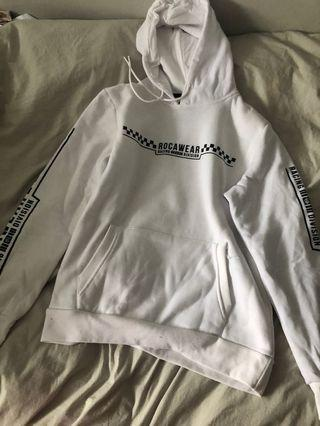 To swear white hoodie