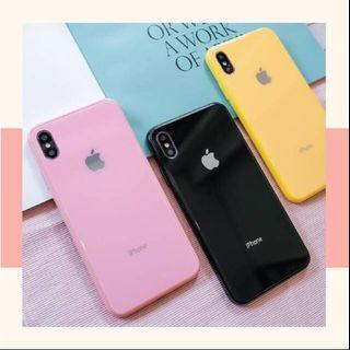 Glass pastel case Iphone 6,7,8,x,xr