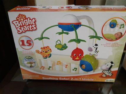 Bright Starts Soothing Safari 2-in-1 Mobile