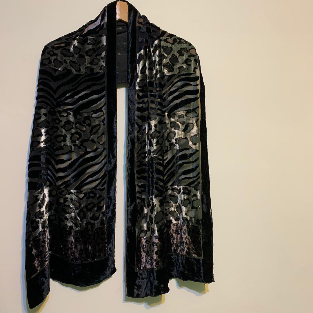 100%絲 高質感貴婦風格披巾