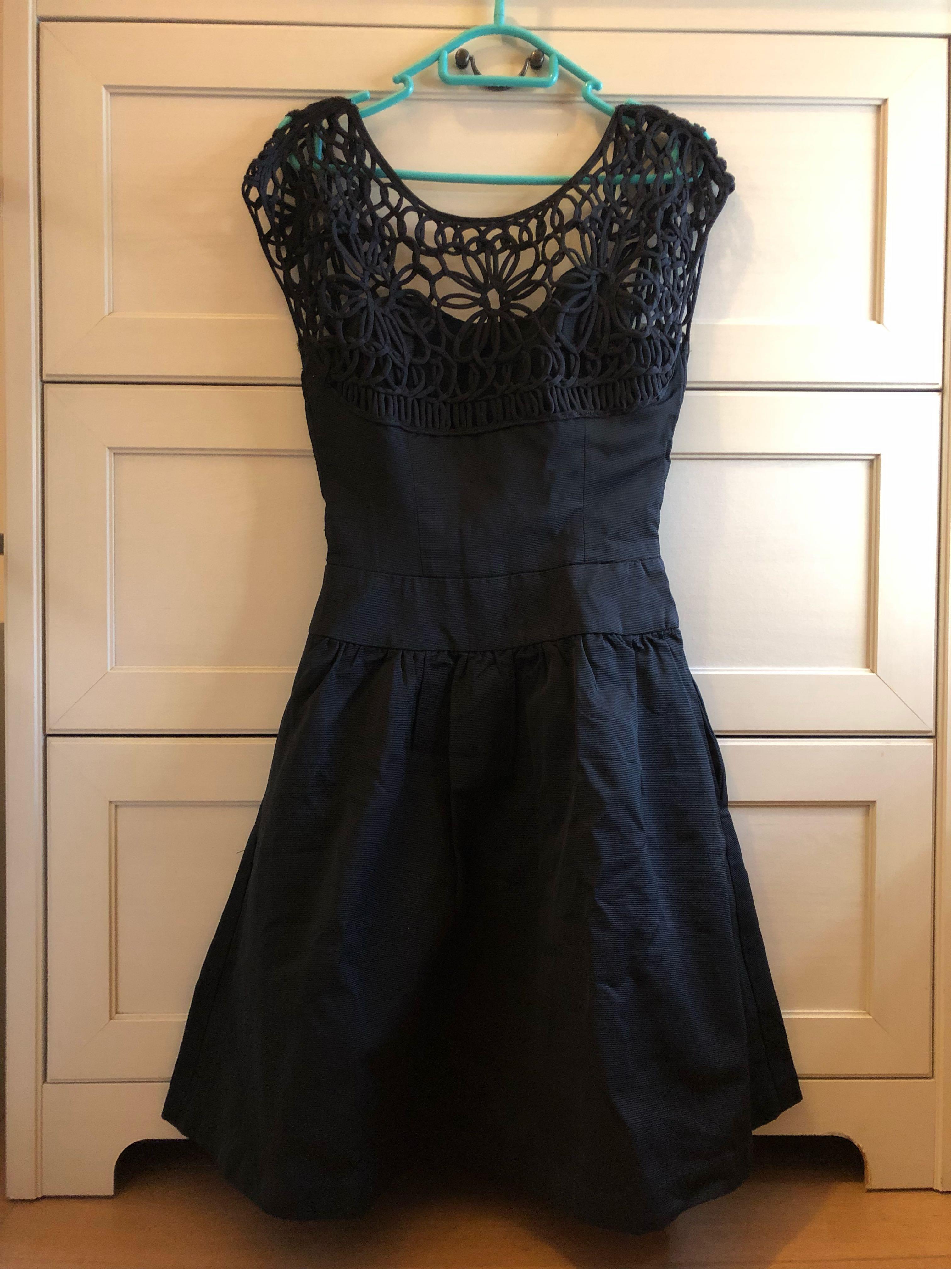 100% new Reiss crochet little black dress