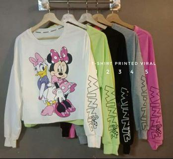 Tshirt Minnie Printed Viral