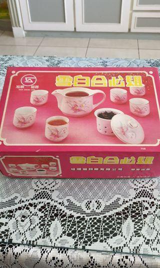 雪白合心組 茶具組