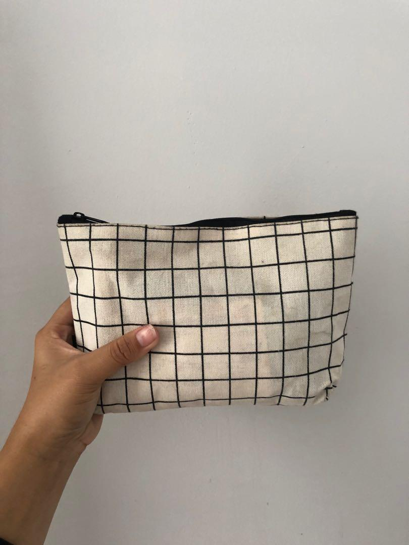 #1111special checkered pouch