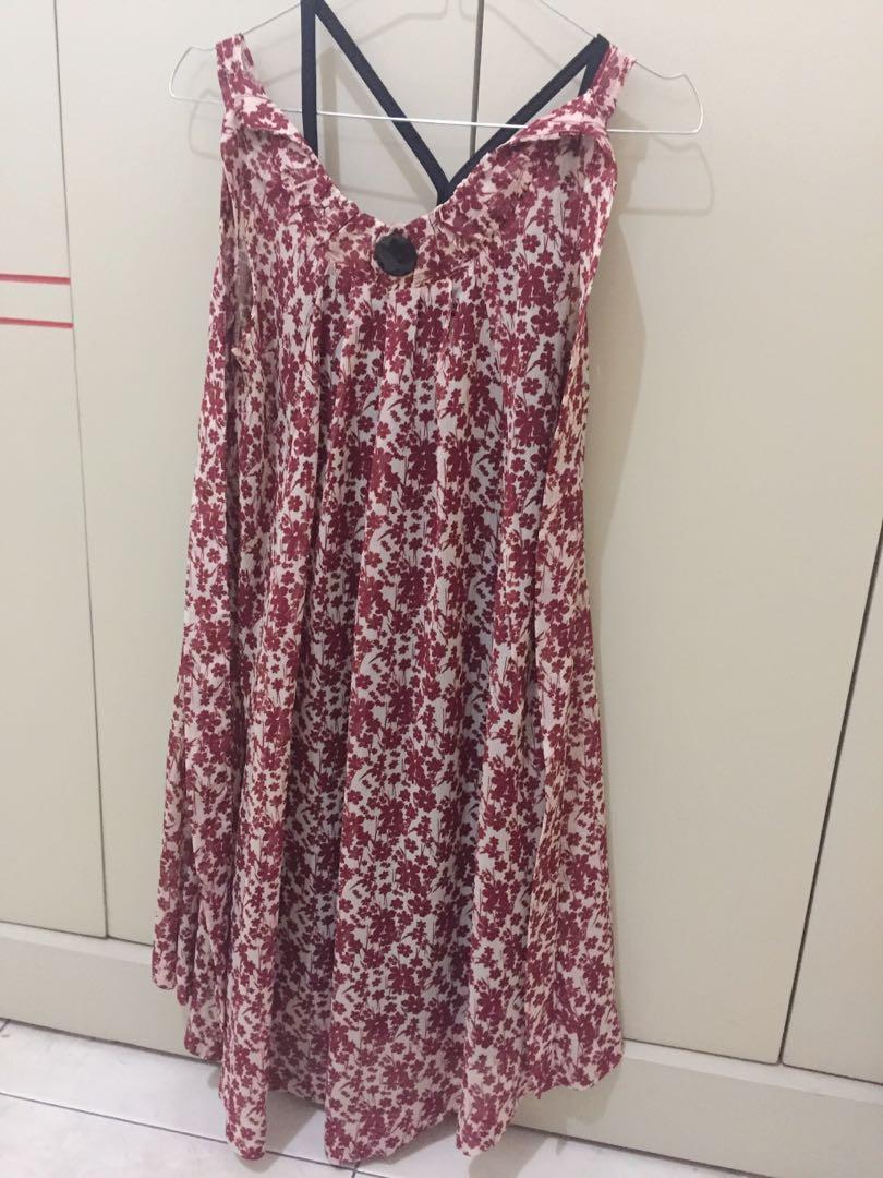 #1111special Floral Dress Wanita