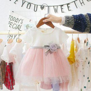 Tutu dress white and pink