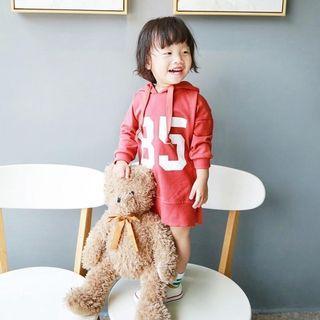 Red hoodie dress / long top