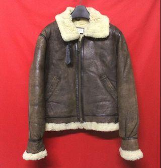 日本帶回HANAI 超高檔保暖仿舊TYPE B-3羊皮美國世界大戰飛行皮衣