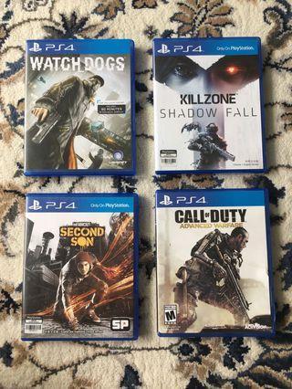PS4 Games Various Titles