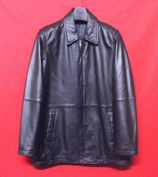 日本品牌GENEROUS 頂級高檔柔軟羊皮簡約素面百褡紳士短大衣 真皮