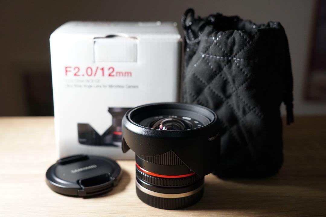 12mm Samyang Rokinon F2.0 (Sony e-mount)