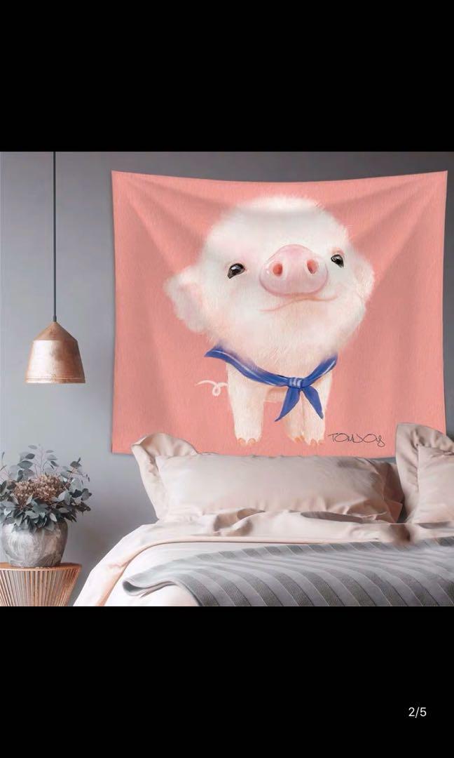 粉紅豬130*150。