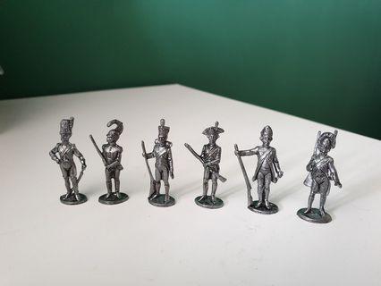 Toy Napoleonic Soldiers / Toy metal figurines